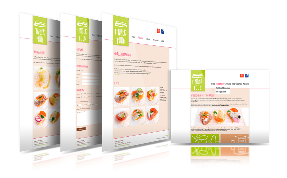 Finger Food – Pixelflüsterer professionelles Web Design aus Wien