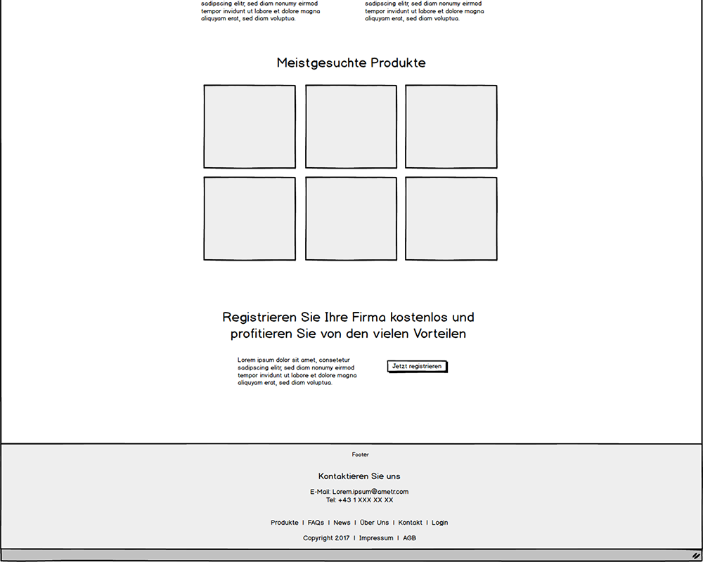 Website Wireframe Footer