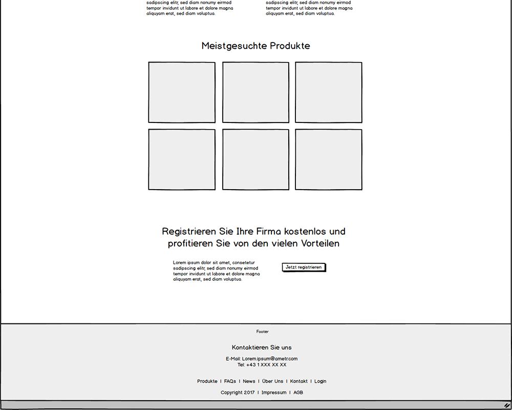 Website Wireframe Footer