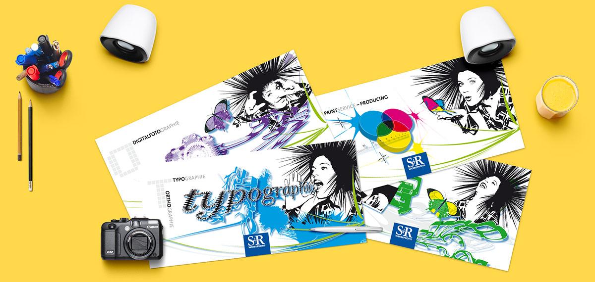 S&R die Werbeprofis Flyer – Pixelflüsterer professionelles Print Design aus Wien.
