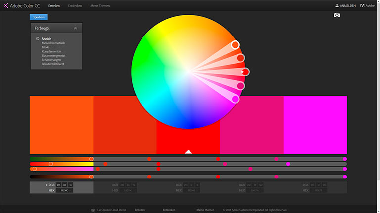Adobe Color CC Color-wheel