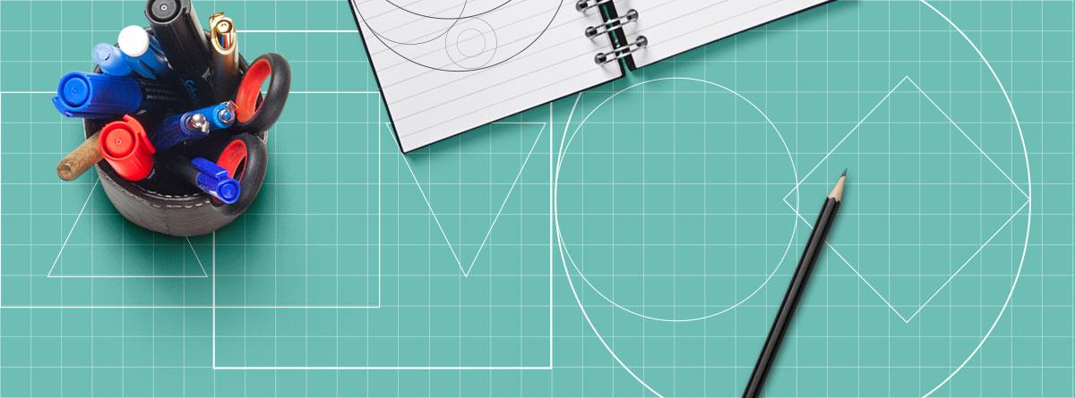 Geometrische Grundformen im Logo Design