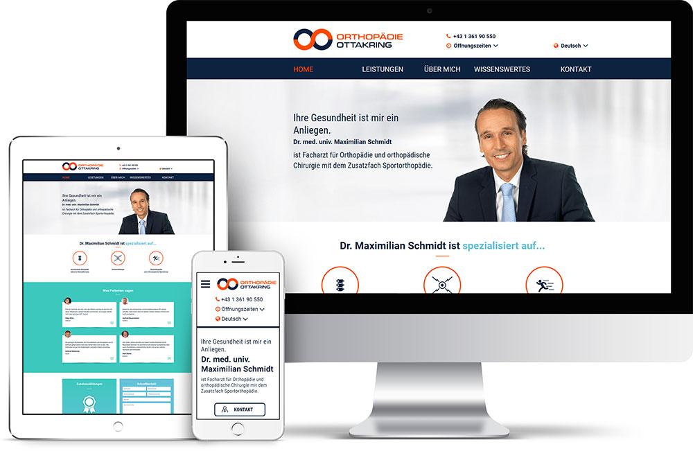 Orthopädie Ottakring – Pixelflüsterer professionelles Screen Design aus Wien