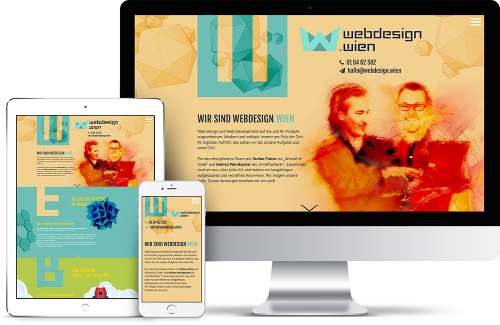 Webseite webdesign.wien Screen Design