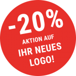Aktionsbutton -20% auf Logodesign