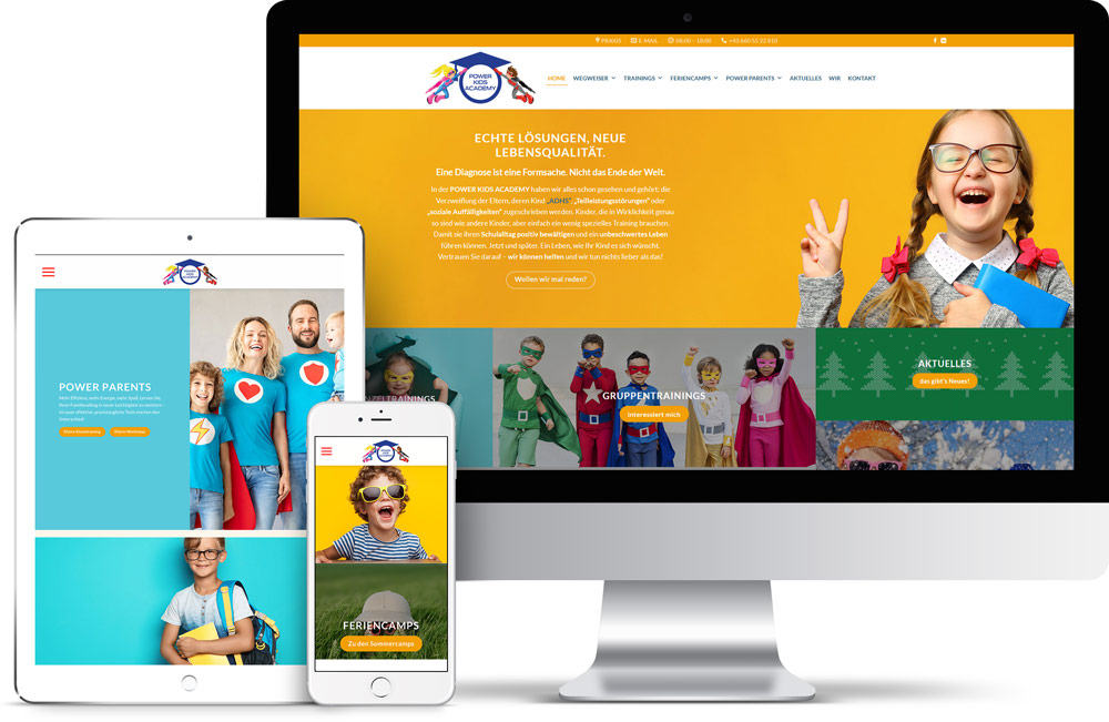 Webdesign Power Kids Academy