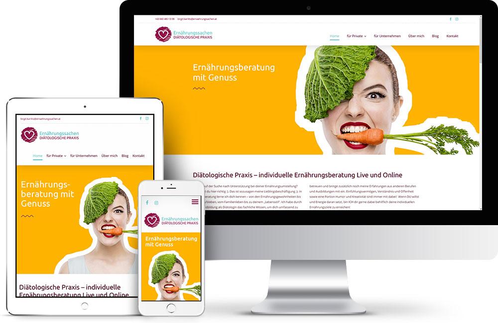 Webdesign Ernährungssachen